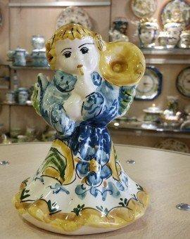 Angioletto in piedi Suonatore Tromba