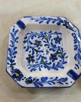 posacenere fiorellini blu