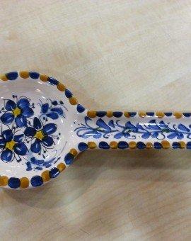 poggiamestolo 3 fiorellini blu